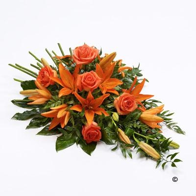 Rose and Lily Spray   Orange