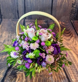 Lilac & Purple Basket